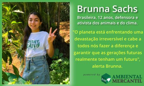 Brasileira de 12 anos é embaixadora de campanha global para combater mudanças climáticas