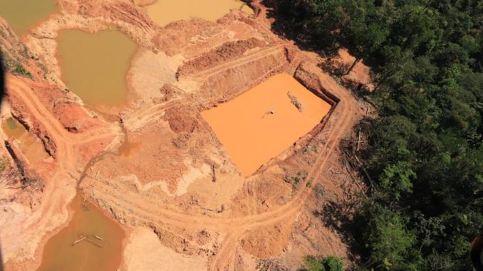 Imagem: Operação da Polícia Federal contra o garimpo ilgela em terras indígenas do Pará em agosto de 2021   Foto: Polícia Federal